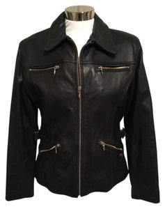 Guess Leather Motorcycle Moto Leather Jacket