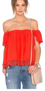 Lovers + Friends Top Orange Red