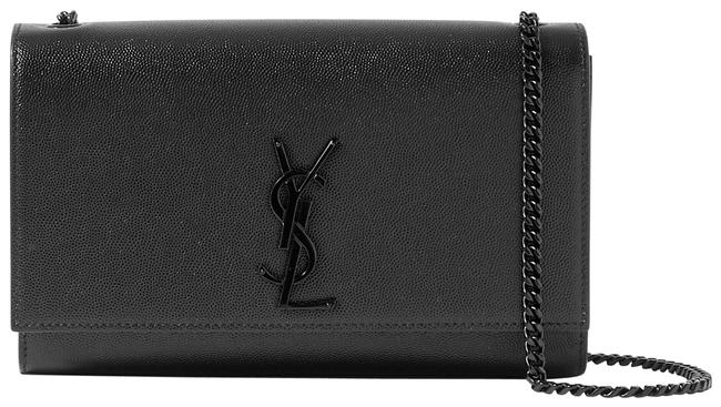 Saint Laurent Monogram Kate Ysl Medium In Grain De Poudre Embossed Black Leather Shoulder Bag Saint Laurent Monogram Kate Ysl Medium In Grain De Poudre Embossed Black Leather Shoulder Bag Image 1