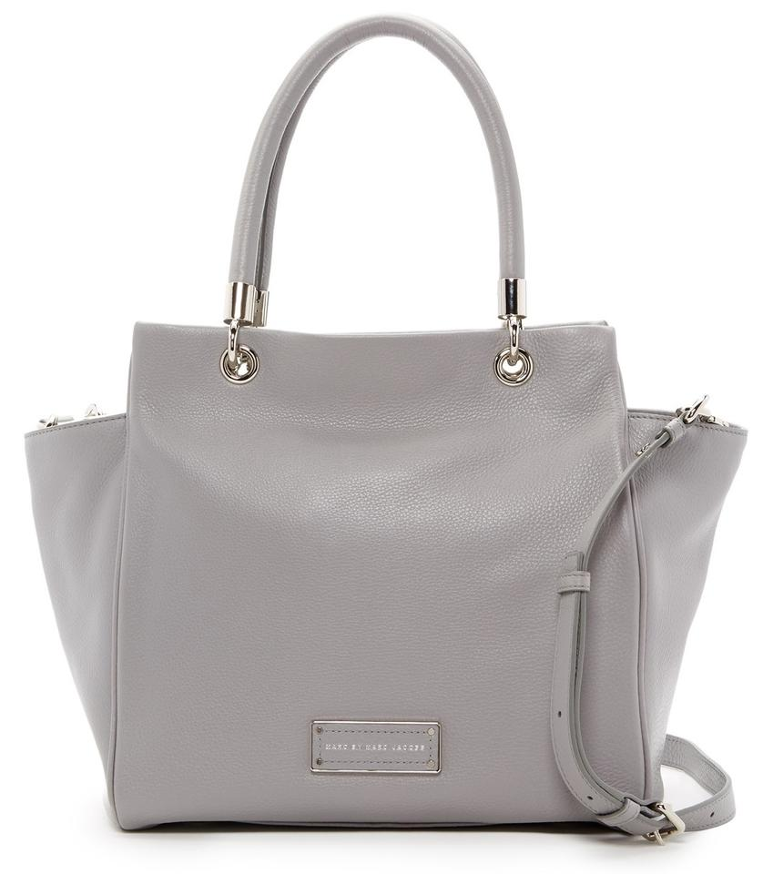 Marc By Jacobs Bentley Leather Winged Double Shoulder Purse Satchel In Storm Cloud