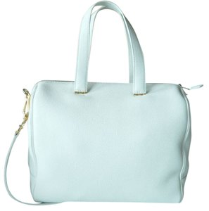 Giorgio Armani Calf Leather New Satchel in White