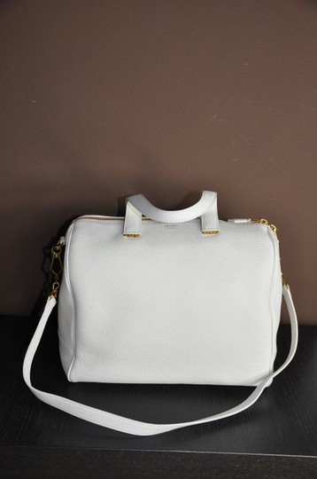 Giorgio Armani Calf Leather Shoulder New Satchel in White