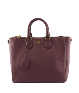 Tory Burch Leather Tote in xBurgundy