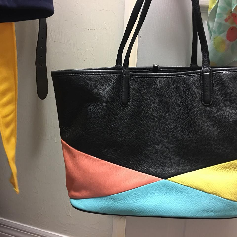 889aa8ccea13 Marc Jacobs Color Blocked By Everyday Large Tote in Black blue pink yellow.  12345678910