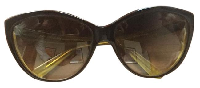 Item - Brown and Yellow Unknown Sunglasses