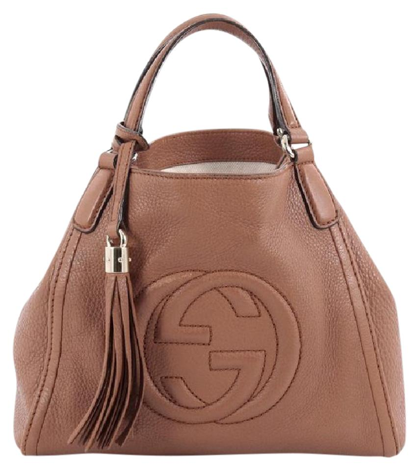 ec45b45ac9a5 Gucci Soho Convertible Small Brown Leather Shoulder Bag - Tradesy
