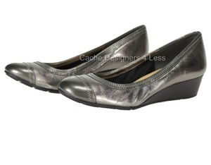 Cole Haan Silver Wedges