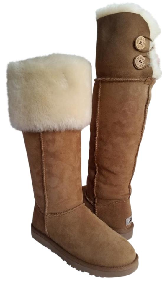 16102429612 UGG Australia Chestnut New Bailey Button Over The Knee Womens 1007536  Boots/Booties Size US 7 Regular (M, B)