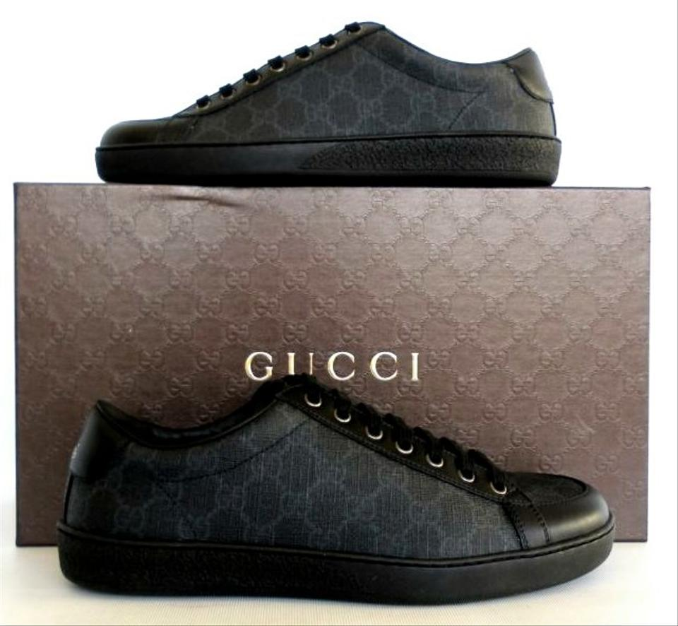 28885cef76f Gucci Black Gray 325370 Brooklyn Gg Low Top Sneakers Men s Sneakers Size US  11.5 Regular (M