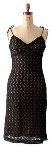Parallel short dress Black Lace Evening on Tradesy
