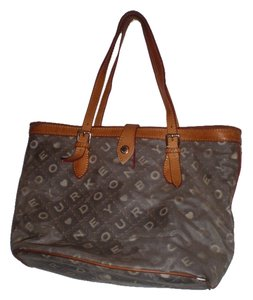 Dooney & Bourke And Purse Handbag Shoulder Tote in Blue monogram