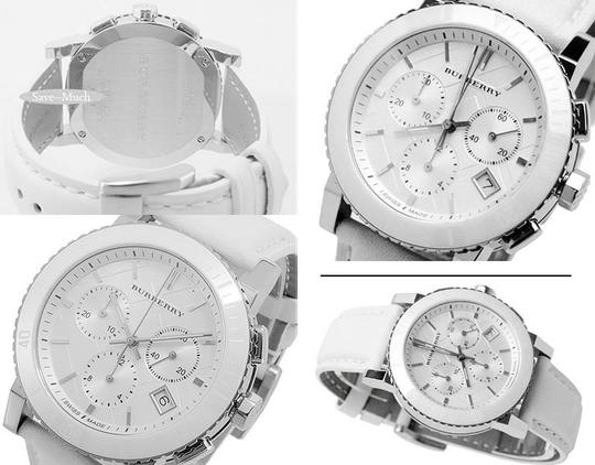 Burberry Burberry City Chronograph White Dial White Leather Unisex Watch BU9701 Image 1