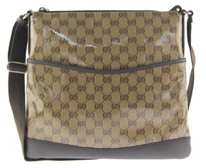 Gucci Beige and Brown GG Messenger Bag