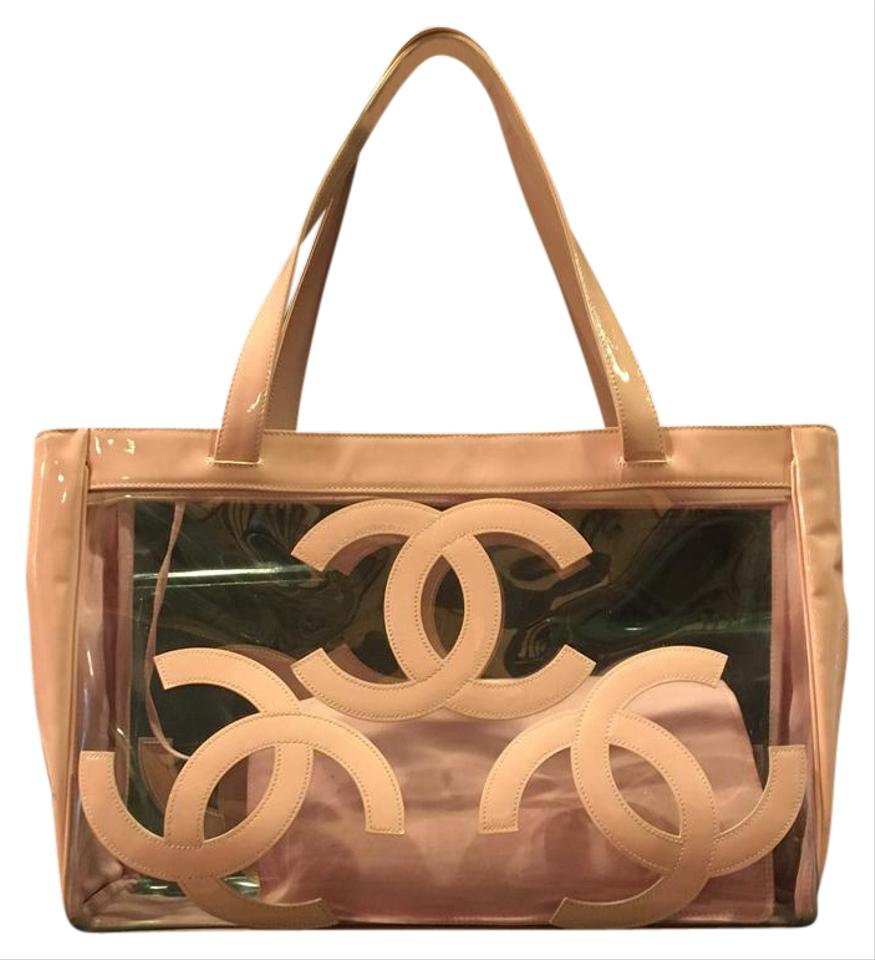 4526323a4 Chanel Beach Tote in Pink/Clear Image 0 ...