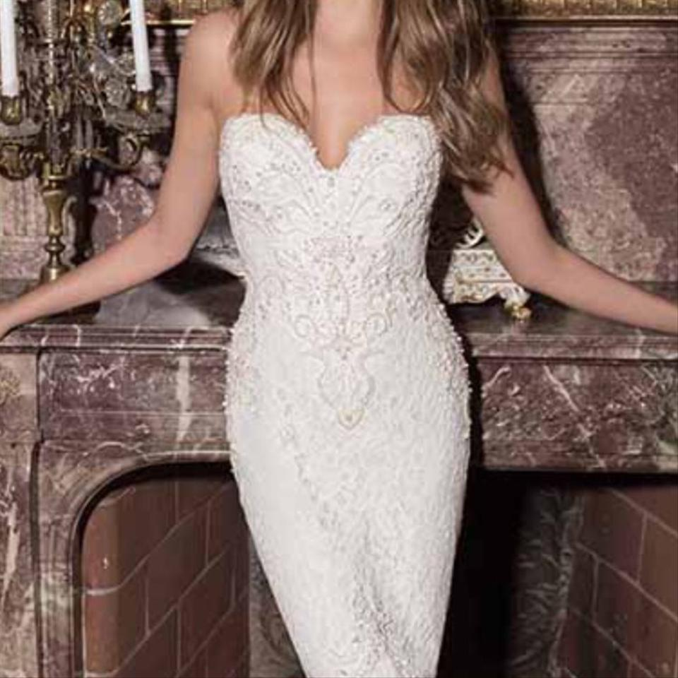 Berta Bridal White Lace Tulle. - Style Number- 21065771 Formal ...