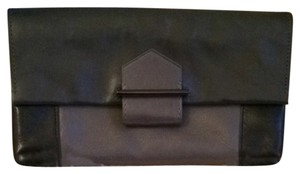 Reed Krakoff Two Tone Envelope Black And Grey Clutch