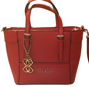 Guess Leather Satchel Cross Body Bag