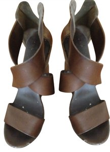Diane von Furstenberg Furstenburg Brown Wedges
