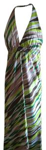 green, browns, off white Maxi Dress by Gap Nwt