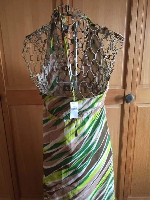green, browns, off white Maxi Dress by Gap