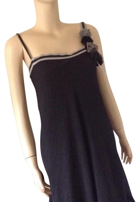 Item - Black with Gray Trim. Long Casual Maxi Dress Size 8 (M)