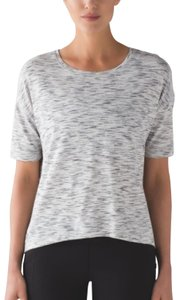Lululemon T Shirt Tiger Space Dye Black White