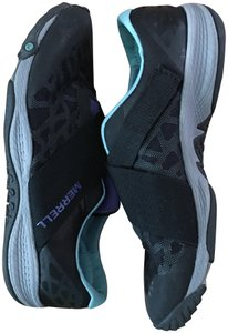 Merrell Stylish Supportive Awesome black with green and purple accents Athletic