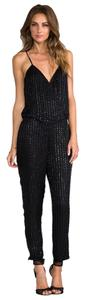 Parker Black Parker Sleeveless Silk Jumpsuit Small