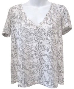 DV by Dolce Vita Snakeprint Casual Draped Tee Tunic