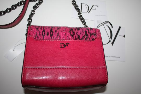 Diane von Furstenberg Dianevonfurstenburg Pinknblack Shoulder Purse Designer Purse Cross Body Bag