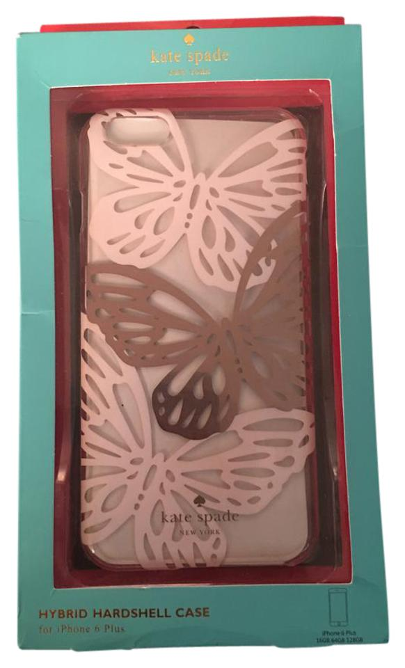 buy popular 3e225 b8cb0 Kate Spade Clear Butterfly Print Hybrid Hardshell Case For Iphone 6 Plus  Tech Accessory 55% off retail