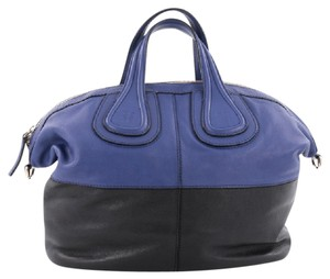 Givenchy Leather Satchel in blue and black