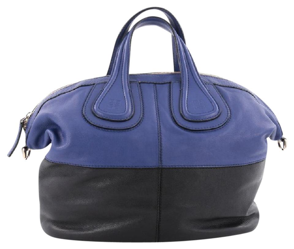and Bicolor Blue Leather Nightingale Medium Satchel Givenchy Black yq5Ity