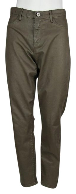 Item - Brown Coated Luxe Sateen Pants Size 2 (XS, 26)
