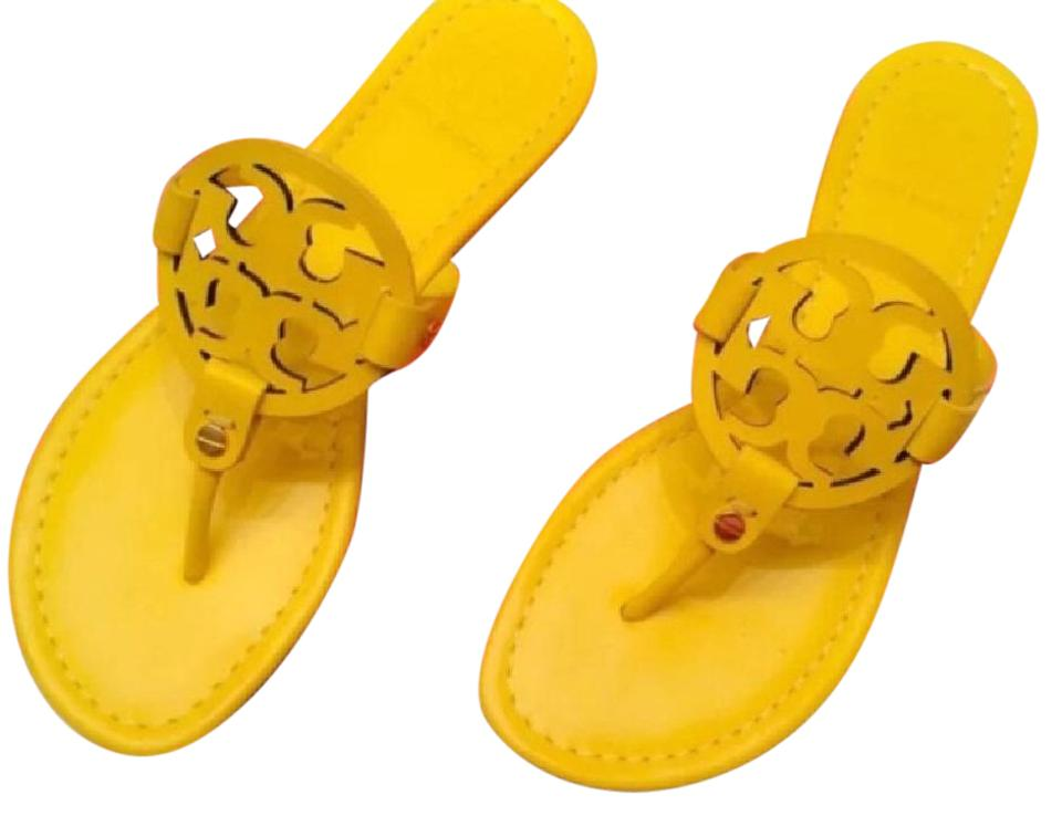 38fa4ad2e Tory Burch Yellow Miller Sandals Size US 8 Regular (M