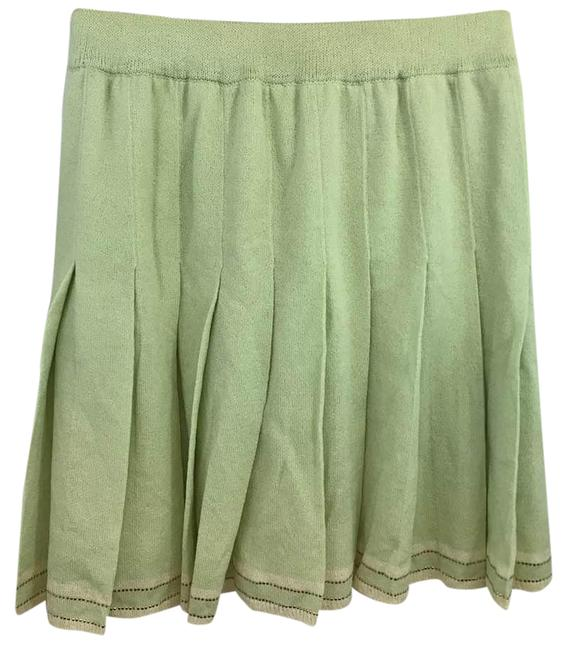 Item - Light Green Collection Elastic Waist Pleated Knit Skirt Size 2 (XS, 26)