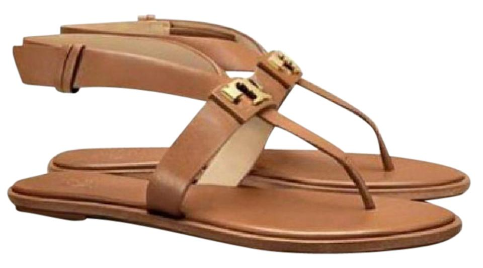c98eebaa1 Tory Burch Royal Tan Gigi Flat Sandals Size US 10 Regular (M