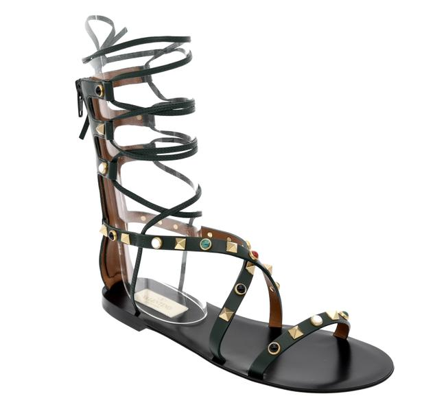 Valentino Green Rolling Gladiator Sandals Size EU 36 (Approx. US 6) Regular (M, B) Valentino Green Rolling Gladiator Sandals Size EU 36 (Approx. US 6) Regular (M, B) Image 1