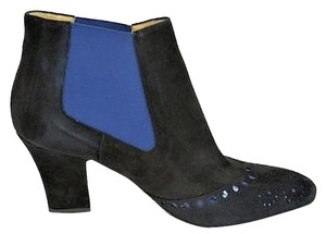 Aquatalia by Marvin K. Black Suede Black, Blue Boots