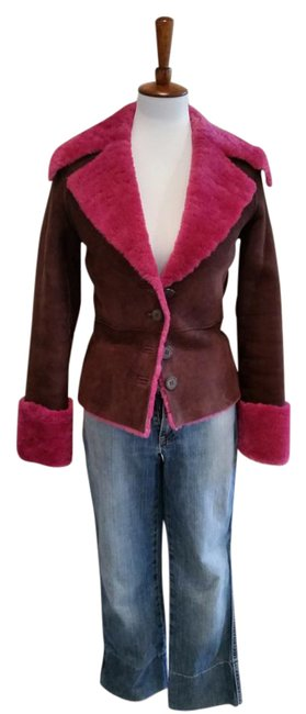 Preload https://img-static.tradesy.com/item/2197578/sheri-bodell-brown-and-pink-genuine-shearling-jacket-coat-size-4-s-0-2-650-650.jpg