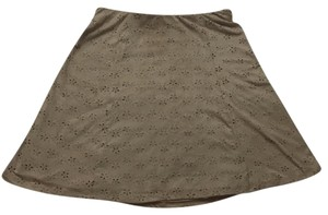Maurices Eyelet Faux Suede Mini Skirt Tan
