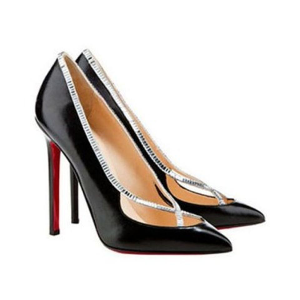 c0536b41ee8f Christian Louboutin Black New 39it Super Pigalle Leather Strass High Heel  Lady Fashion Follies Pumps