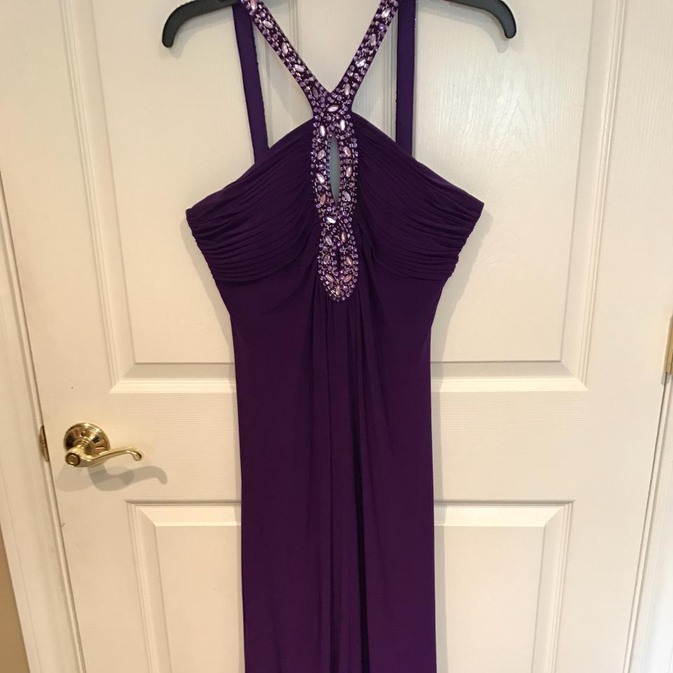 f8073fc2aad54 Ignite Evenings by Carol Lin Purple Floor Length Gown Long Formal Dress Size  12 (L) - Tradesy