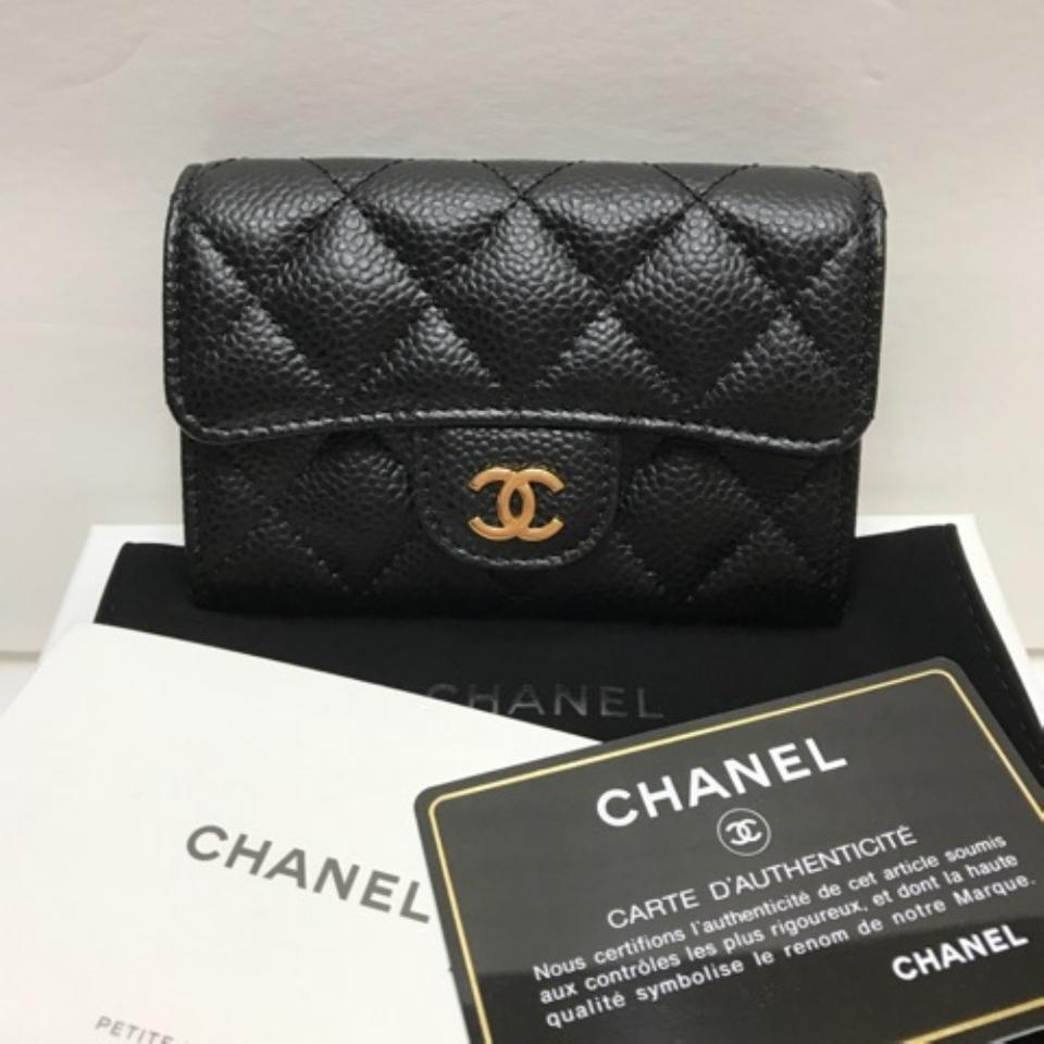 cddb17fec8ec Chanel Chanel Classic Flap Card Holder Black Caviar Gold Hardware Image 9.  12345678910