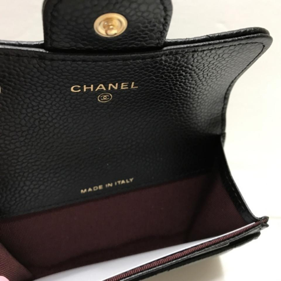 0aa800a0cb78 Chanel Chanel Classic Flap Card Holder Black Caviar Gold Hardware Image 9.  12345678910