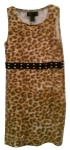 Kardashian Kollection short dress Brown & Gold Leopard Print on Tradesy