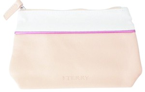 By Terry By Terry Faux Leather and Fabric Cosmetics Makeup Bag Pouch Sac Clutch