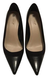 Carole Little Black Leather Pumps