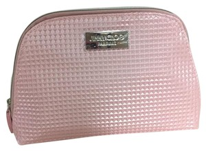 Jimmy Choo Jimmy Choo Pink Faux Leather Cosmetics Makeup Bag Pouch Sac Case