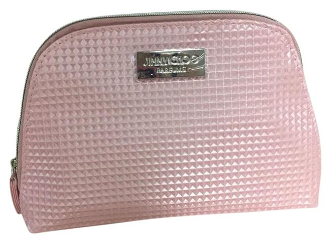 Item - Pink Faux Leather Makeup Pouch Sac Case Cosmetic Bag